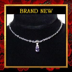 Jewelry - Purple Amethyst Gemstone Necklace  #063